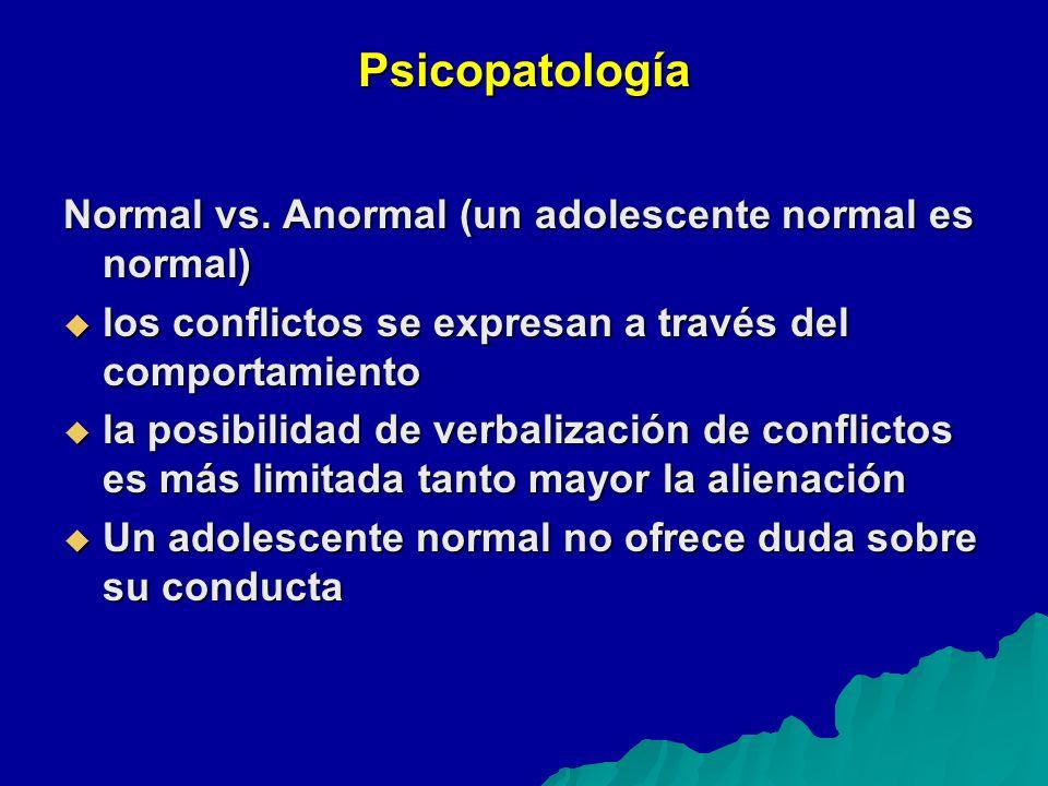 Psicopatología Normal vs.