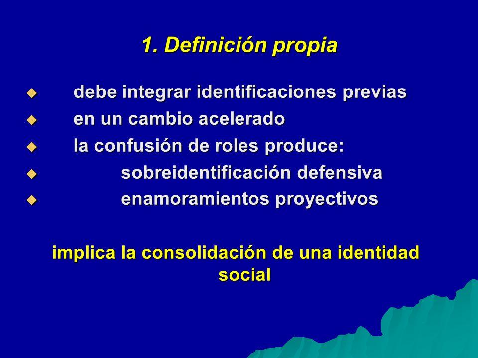 1. Definición propia debe integrar identificaciones previas debe integrar identificaciones previas en un cambio acelerado en un cambio acelerado la co