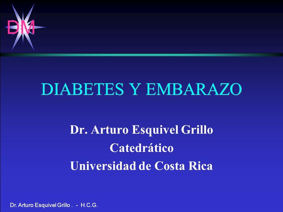DM Dr.Arturo Esquivel Grillo. - H.C.G. - Características de la Insulina en el Embarazo.