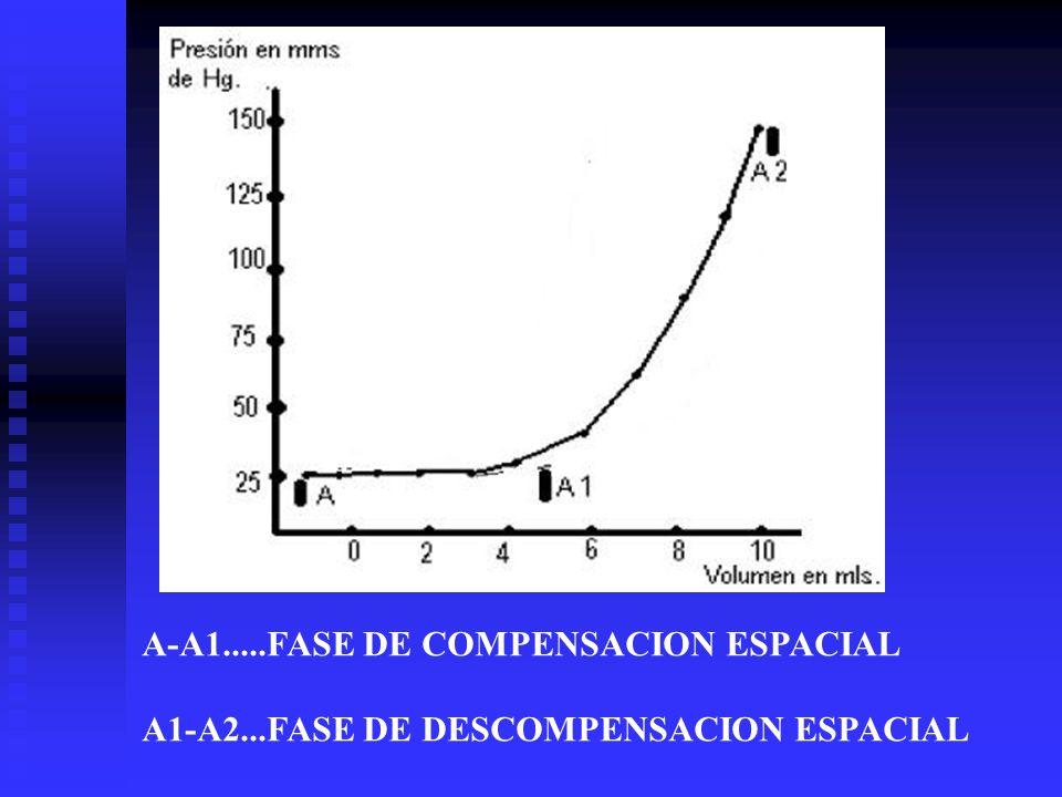 A-A1.....FASE DE COMPENSACION ESPACIAL A1-A2...FASE DE DESCOMPENSACION ESPACIAL