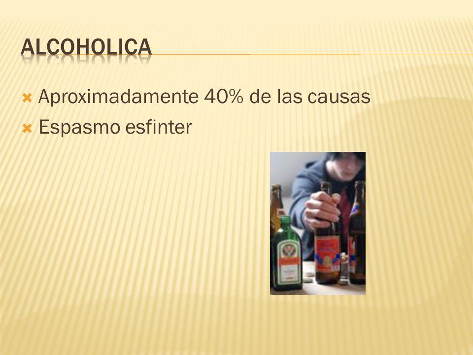 15 – 20% de las pancreatitis TG > 500 mg/dl