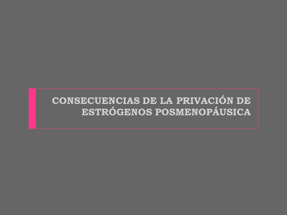 CONSECUENCIAS DE LA PRIVACIÓN DE ESTRÓGENOS POSMENOPÁUSICA