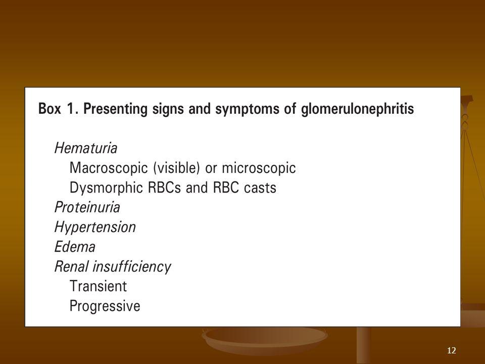 13 Generalidades Inflamación intraglomerular y proliferación celular asociado a hematuria.