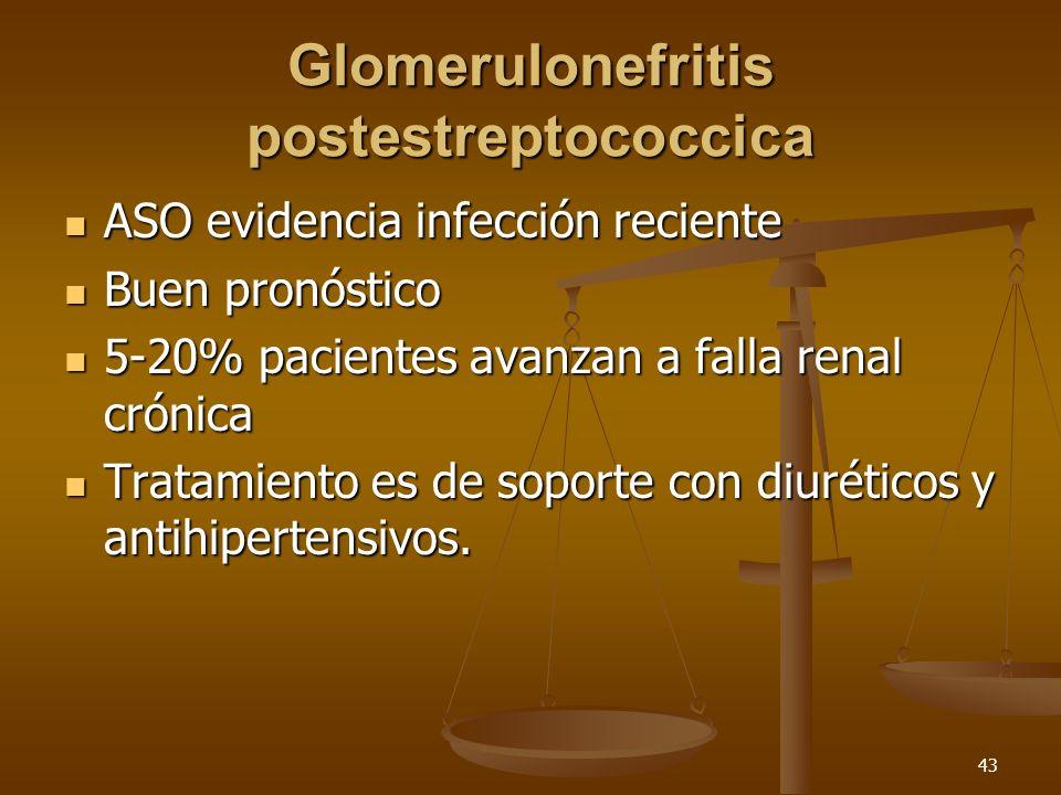 44 Glomerulonefritis postinfecciosa Virus huérfanos humanos citopáticos entéricos (ECHO).