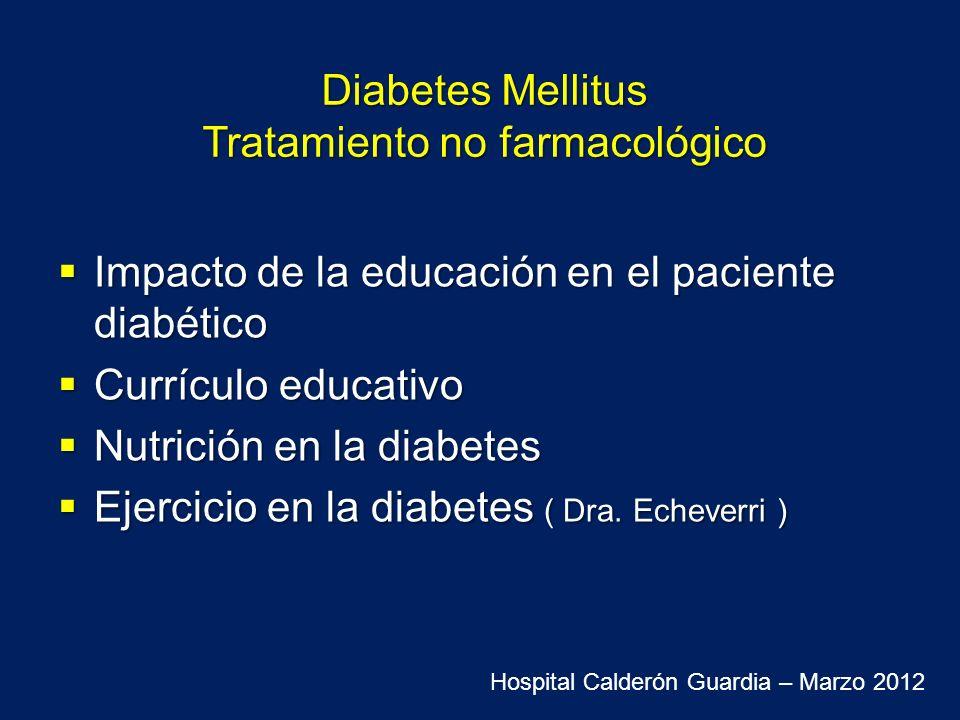 La educación en el automanejo de la diabetes y el apoyo continuo son componentes fundamentales del tratamiento de la diabetes y contribuyen a la mejoría metabólica y de la calidad de vida International Diabetes Federation.