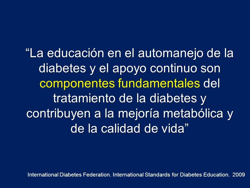 Impacto de la educación al paciente diabético en la HbA1c Meta-análisis de 31 estudios del efecto en la HbA1c después de educar a los pacientes sin ninguna otra modificación terapéutica Diabetes Care 25: 1166 – 1167, 2002
