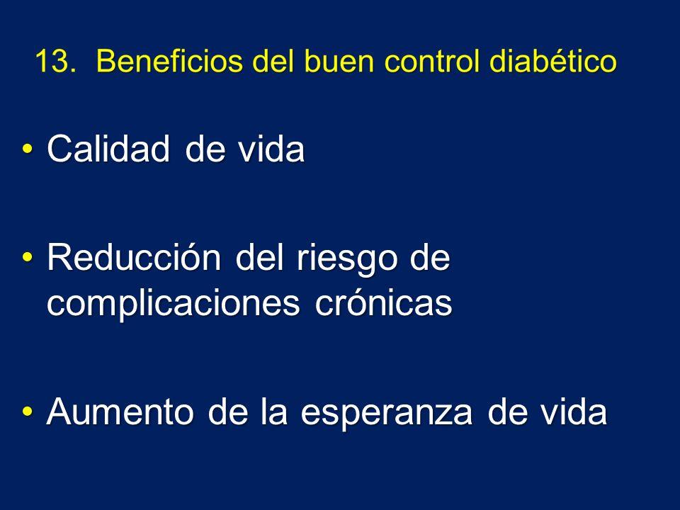 Calidad de vidaCalidad de vida Reducción del riesgo de complicaciones crónicasReducción del riesgo de complicaciones crónicas Aumento de la esperanza