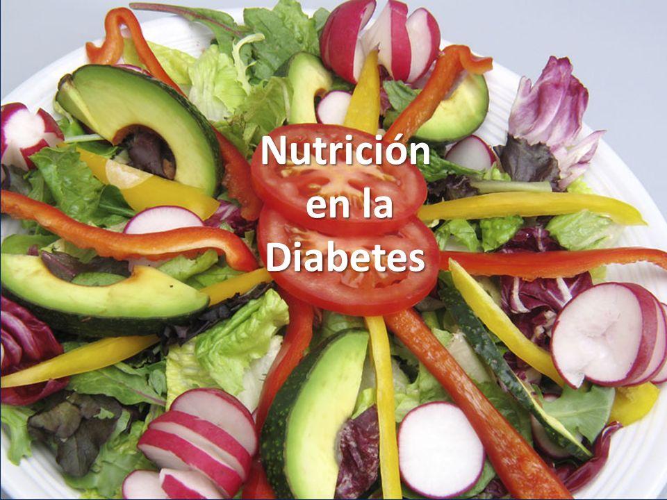Objetivos del tratamiento dietético en el paciente diabético 1.