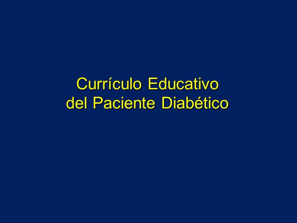 Temario del Currículo Educativo 13 capítulos 1.Generalidades de la diabetes 2.