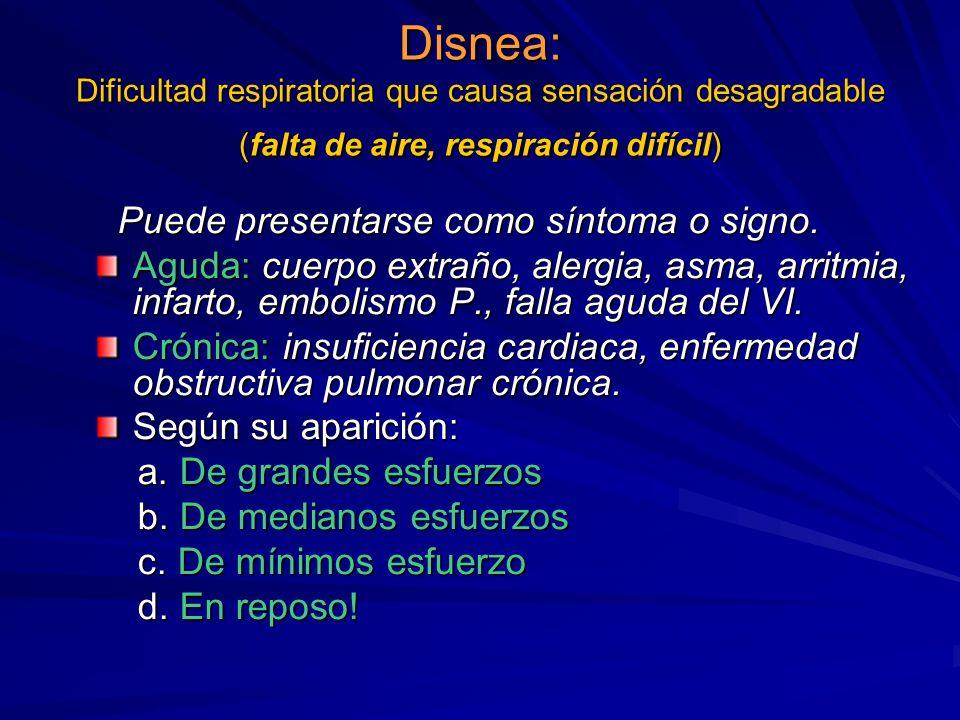 Semiología Cardiovascular Síntoma: Trastorno subjetivo Signo: Trastorno demostrable por el médico. Síntomas cardiovasculares: Disnea, dolor, palpitaci