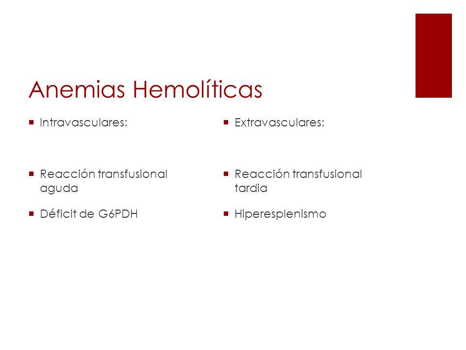 Anemia hemolítica por anticuerpos fríos Producidas por: Mononucleosis infecciosa.