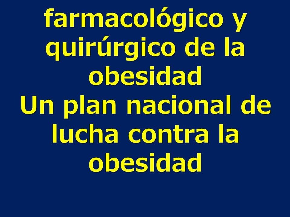 Tratamiento farmacológico y quirúrgico de la obesidad Un plan nacional de lucha contra la obesidad