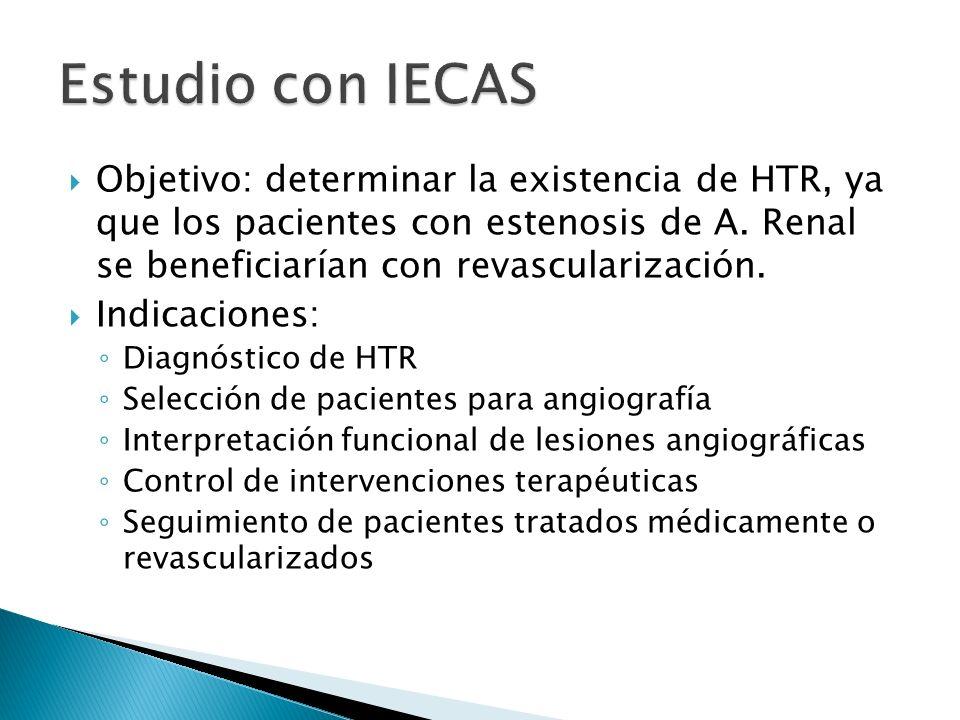 Objetivo: determinar la existencia de HTR, ya que los pacientes con estenosis de A.