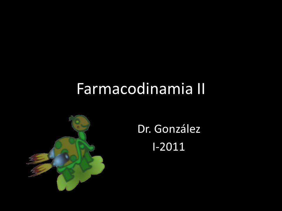 Farmacodinamia II Dr. González I-2011