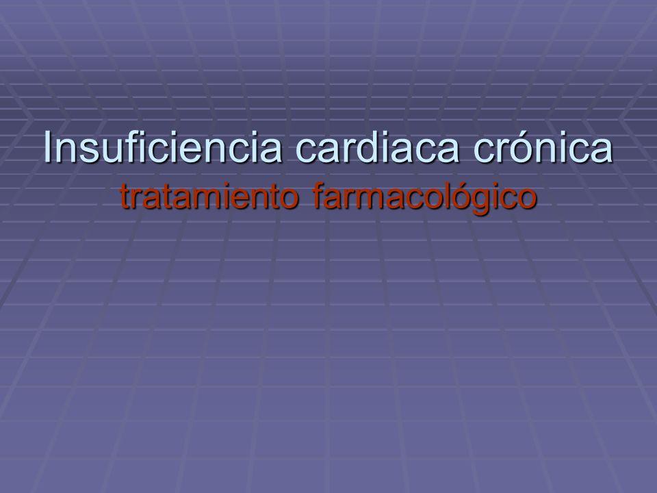 Insuficiencia cardiaca crónica tratamiento farmacológico