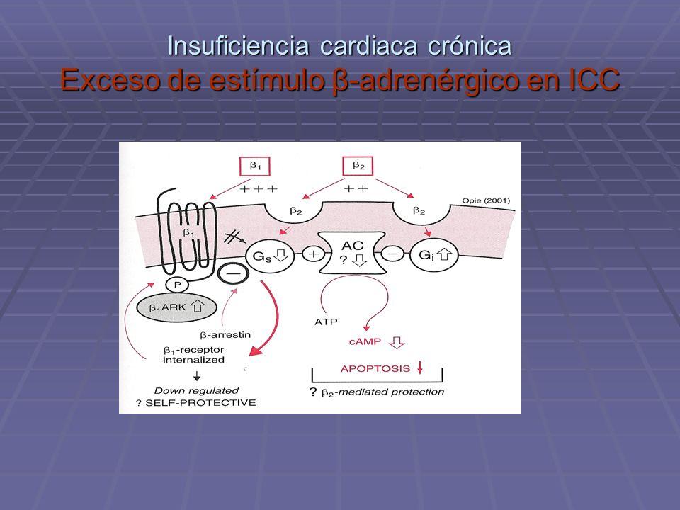 Insuficiencia cardiaca crónica Exceso de estímulo β-adrenérgico en ICC
