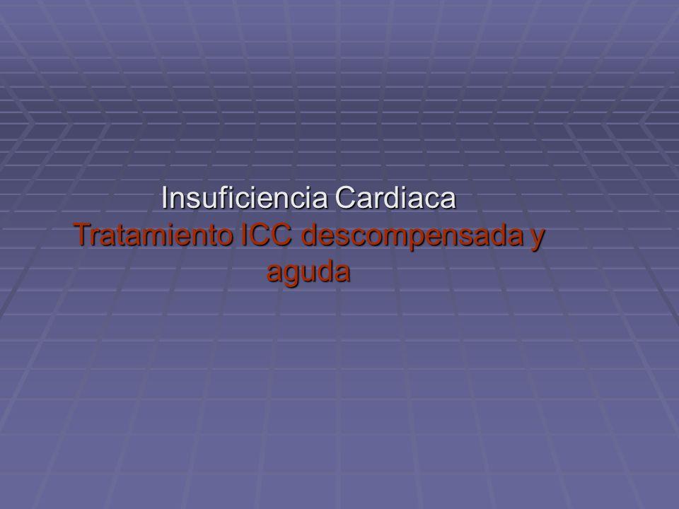 Insuficiencia Cardiaca Tratamiento ICC descompensada y aguda