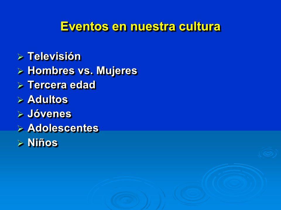 Eventos en nuestra cultura Televisión Televisión Hombres vs.