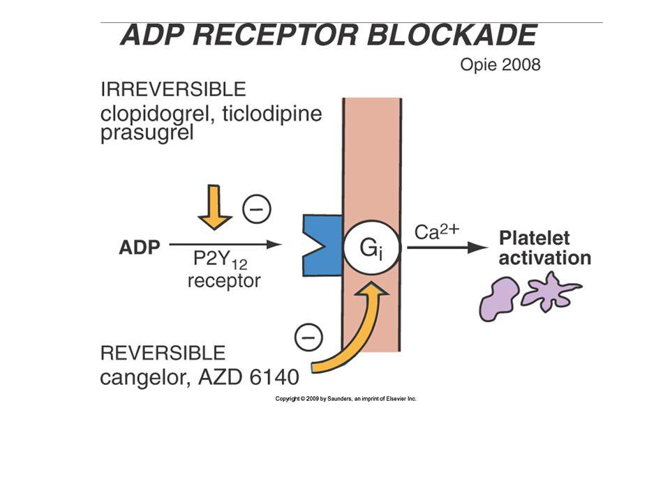 Antagonistas de receptor de glicoproteína IIb/IIIa Hay tres medicamentos: abciximab, tirofiban y epifatide.
