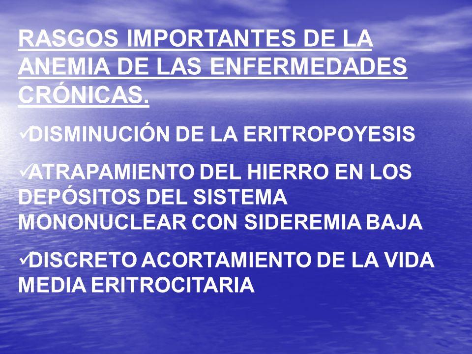 EL GRADO DE LA ANEMIA NO ESTA RELACIONADO CON EL TIPO DE ENFERMEDAD RENAL SINO CON EL FLUJO RENAL Y EL ACLARAMIENTO DE CREATININA EL TRATAMIENTO DE LA ANEMIA DE LA ENFERMEDAD RENAL CRÓNICA ES CON ERITROPOYETINA (50-150 U /KG VÍA SUBCUTÁNEA, 3 VECES POR SEMANA) Y COMO LO HEMOS DICHO DEBE DARSE HIERRO TAMBIÉN.