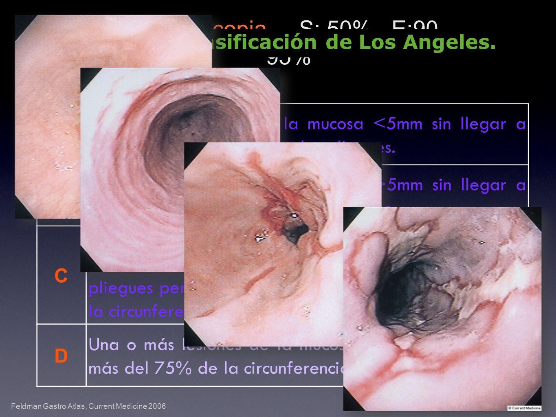 A Uno o más lesiones de la mucosa <5mm sin llegar a extenderse a la cresta de dos pliegues.
