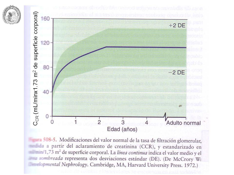 C CR (mL/minx1.73 m 2 de superficie corporal)