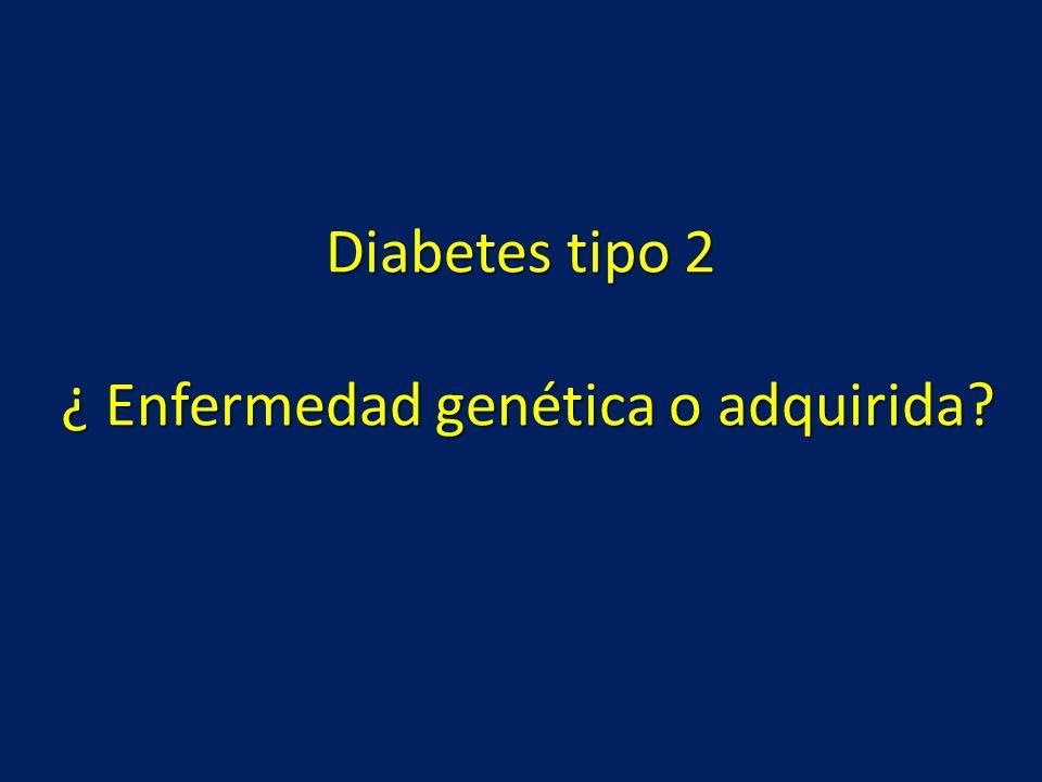 Diabetes tipo 2 ¿ Enfermedad genética o adquirida?