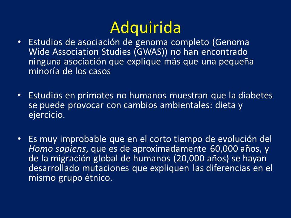 Adquirida Estudios de asociación de genoma completo (Genoma Wide Association Studies (GWAS)) no han encontrado ninguna asociación que explique más que