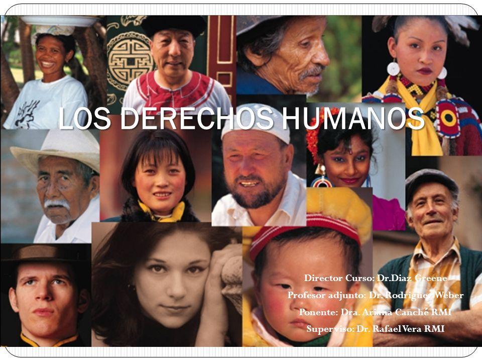 Director Curso: Dr.Diaz Greene Profesor adjunto: Dr. Rodriguez Weber Ponente: Dra. Ariana Canché RMI Superviso: Dr. Rafael Vera RMI LOS DERECHOS HUMAN