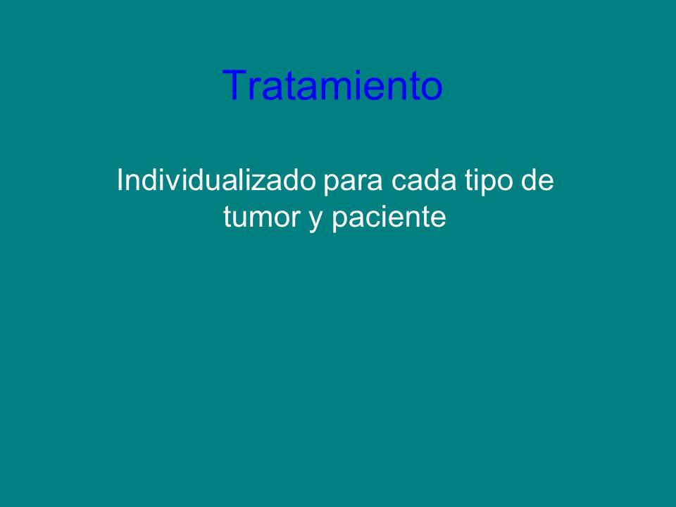 Tratamiento Individualizado para cada tipo de tumor y paciente