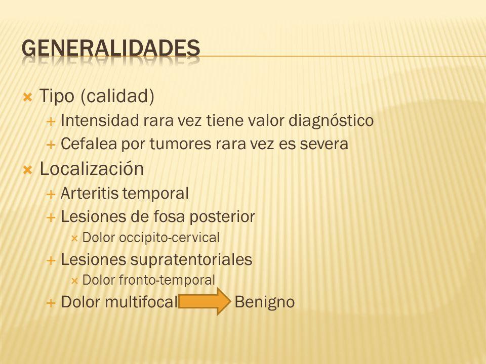 Cefalea benigna recurrente Disfunción neurológica recurrente Provocada por estímulos estereotipados Paciente asintomático entre crisis Predomina en mujeres Predisposición genética (hereditaria) Fenómenos circulatorios secundarios a disfunción primaria en el tallo cerebral