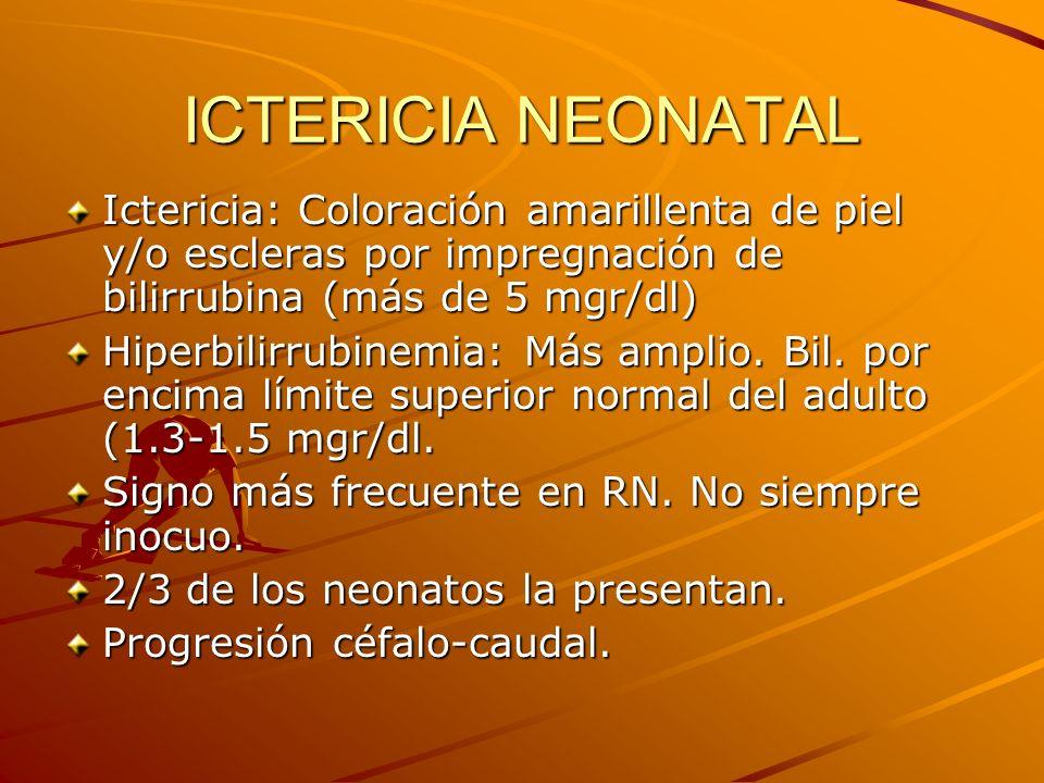 ICTERICIA NEONATAL ¿POR QUE TEMERLE.KERNICTERUS: Forma crónica de encefalopatía por bilirrubina.