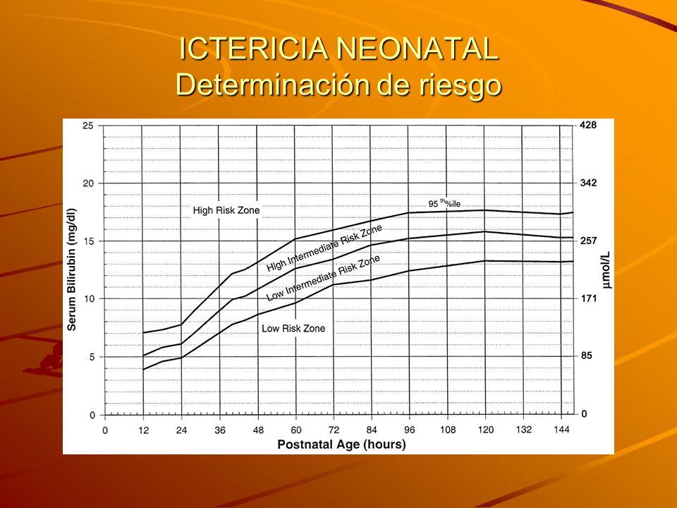 ICTERICIA NEONATAL Determinación de riesgo