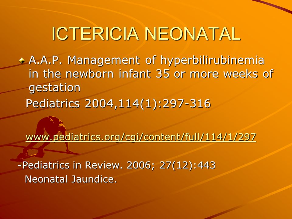 ICTERICIA NEONATAL A.A.P.