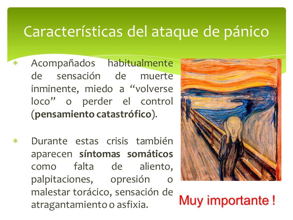 Las crisis de angustia pueden aparecer en una amplia gama de trastornos de ansiedad: Trastorno de pánico propiamente dicho.