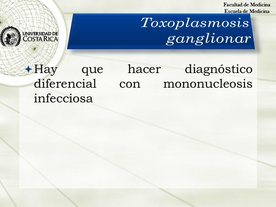 Hay que hacer diagnóstico diferencial con mononucleosis infecciosa Facultad de Medicina Escuela de Medicina