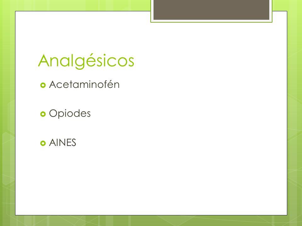 Acetaminofén Opiodes AINES