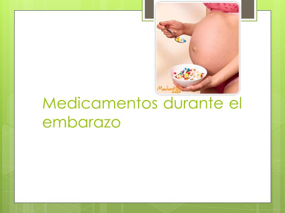 Medicamentos durante el embarazo