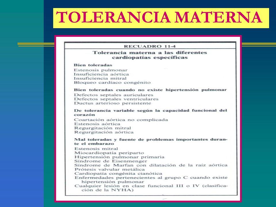 TOLERANCIA MATERNA