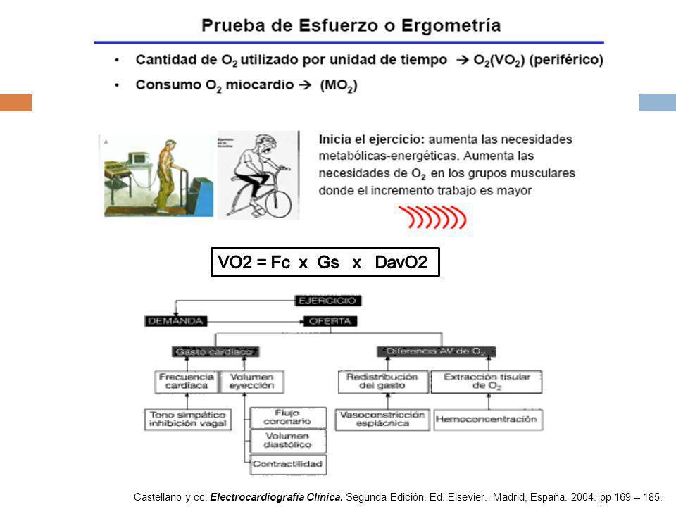 Castellano y cc. Electrocardiografía Clínica. Segunda Edición. Ed. Elsevier. Madrid, España. 2004. pp 169 – 185.