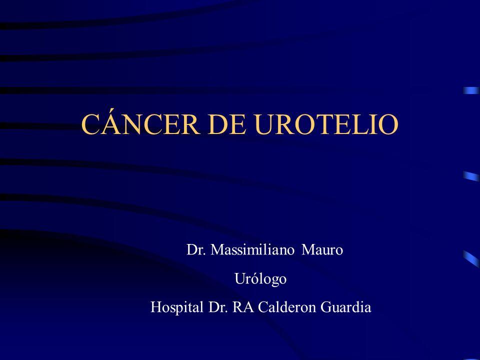 CÁNCER DEL UROTELIO TRATAMIENTO (VEJIGA) Tratamiento inicial: R.T.U de la lesión 1.Tumores superficiales, bajo grado, primera lesión y única - solo R.T.U 2.T.