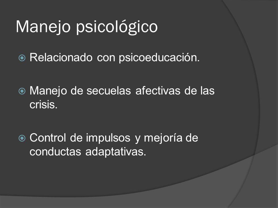 Manejo psicológico Relacionado con psicoeducación.