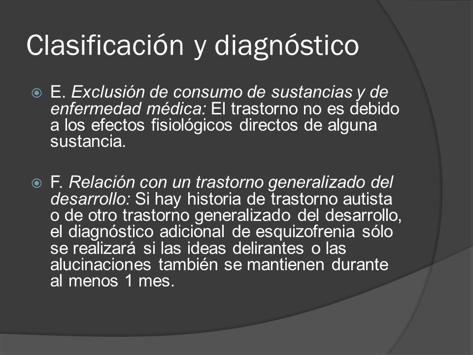 Clasificación y diagnóstico E.