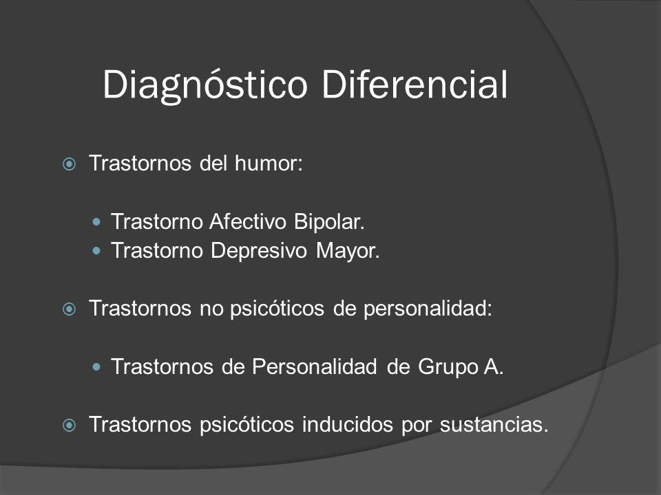 Diagnóstico Diferencial Trastornos del humor: Trastorno Afectivo Bipolar.