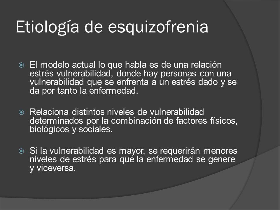 Bases biológicas de la Esquizofrenia Se sabe que el neurotransmisor DA juega un rol importante en la hipótesis acerca de algunos aspectos de los síntomas de esquizofrenia discutidos previamente.