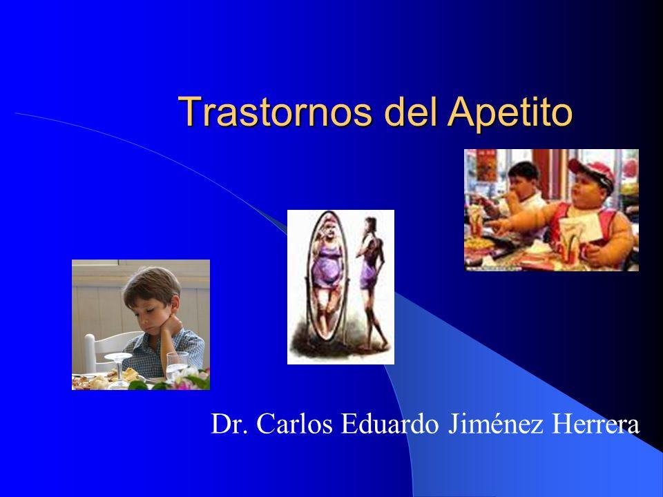 Trastornos del Apetito Dr. Carlos Eduardo Jiménez Herrera