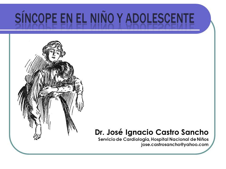 Dr. José Ignacio Castro Sancho Servicio de Cardiología, Hospital Nacional de Niños jose.castrosancho@yahoo.com