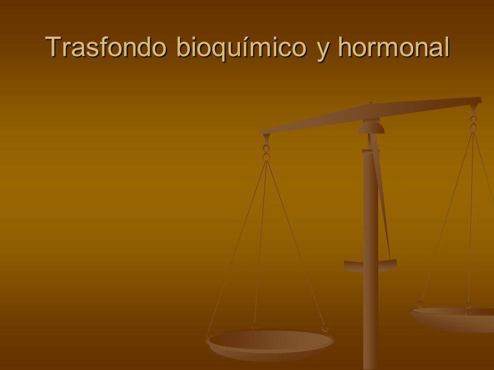 Trasfondo bioquímico y hormonal