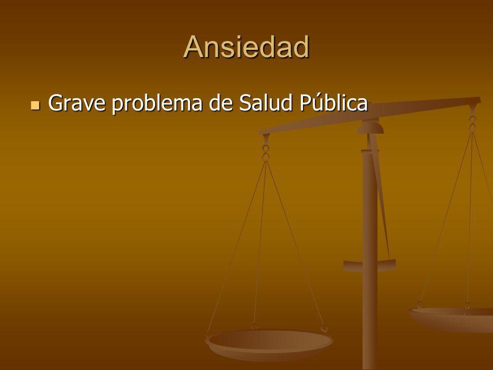 Ansiedad Grave problema de Salud Pública Grave problema de Salud Pública