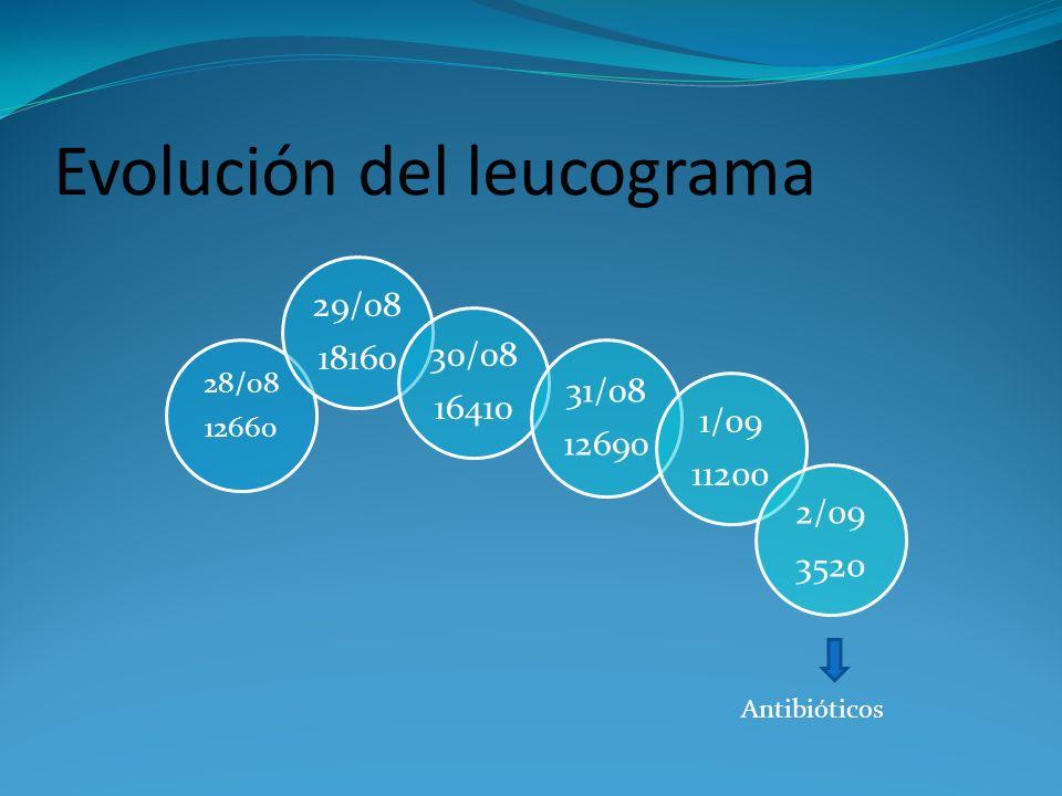 Evolución del leucograma Antibióticos